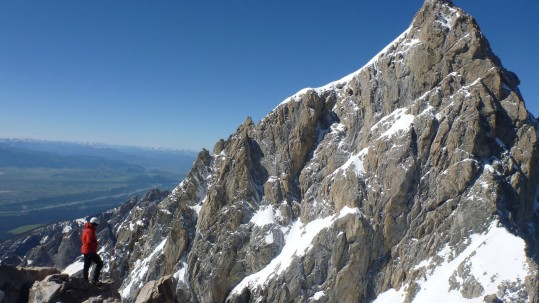East Ridge of the Grand Teton as seen from Mt. Owen
