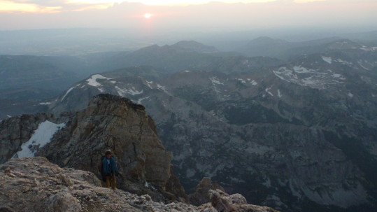 Sunset from the Upper Saddle on the Grand Traverse