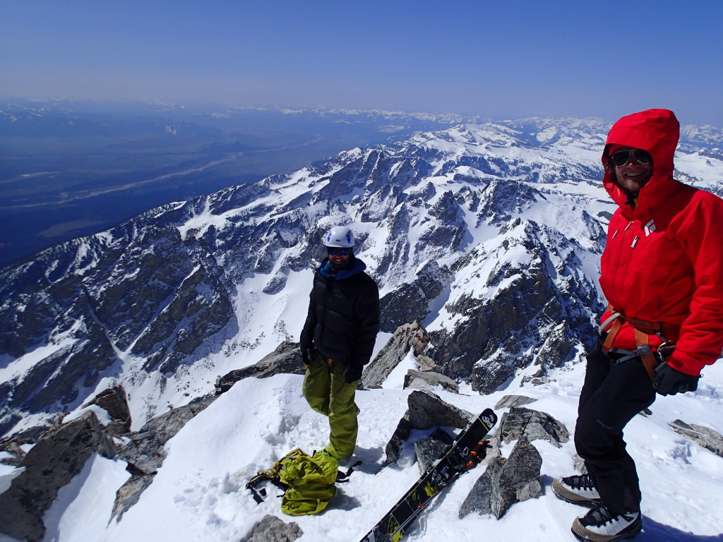 Cheesin' on the summit